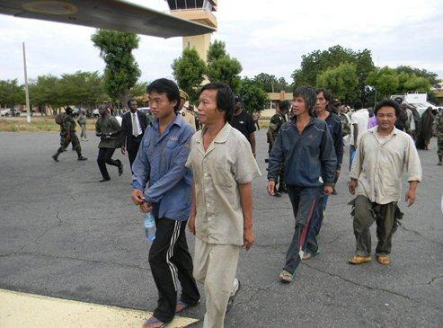 Les otages chinois - Crédit photo: afriqueactualite.com
