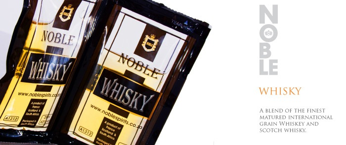 Whisky en sachet - Crédit photo: noblespirits.co.za