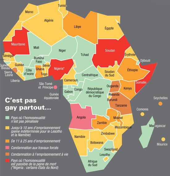 Voici les pays africains qui condamnent l'homosexualité - Crédit photo: stophomophobie.com