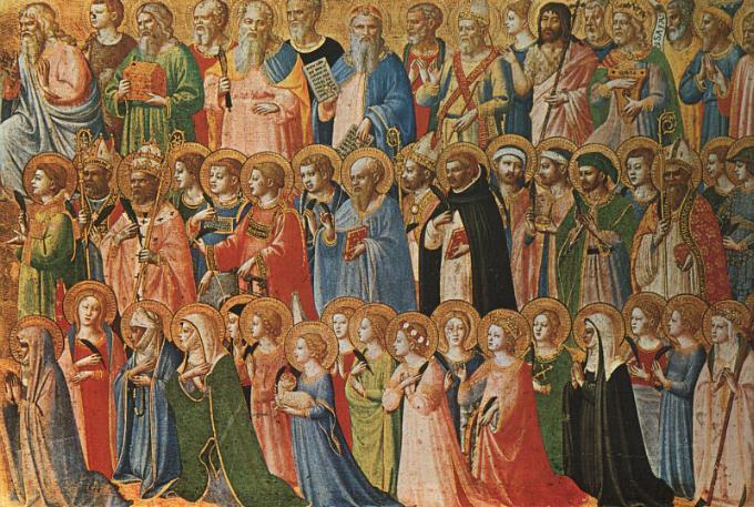 Les Saints, tous morts et certainement ancêtre de certaines personnes, que beaucoup prient - crédit photo: je-n-oeucume-guere.blogspot.com