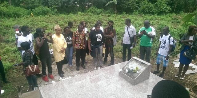 La tombe de Ruben Um Nyobè à Eséka