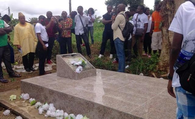 La tombe de Ruben Um Nyobè, à Eséka