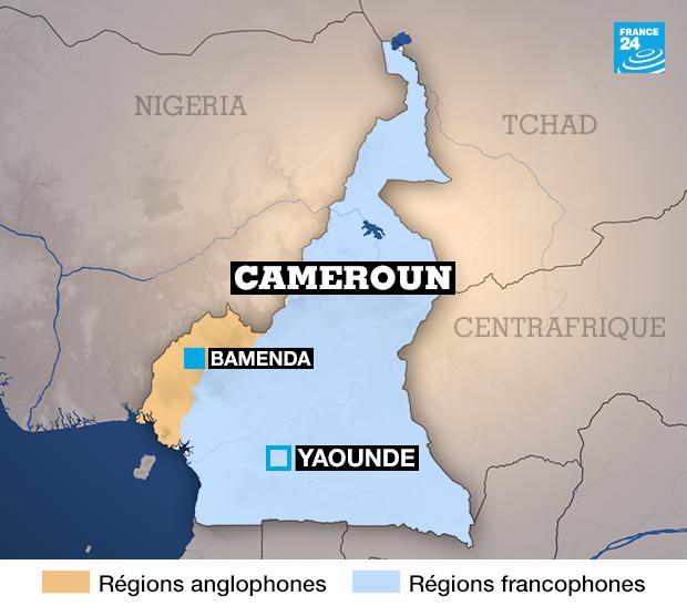 Les régions anglophones et francophones du Cameroun - Photo: France24.fr