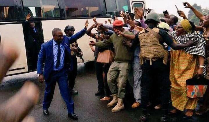 Arrivée des leaders anglophones à Bamenda